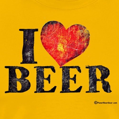 I Love Beer Distressed - Men's Premium T-Shirt