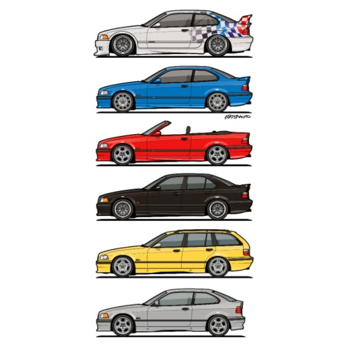Stack of E36 Variants - Men's Premium T-Shirt
