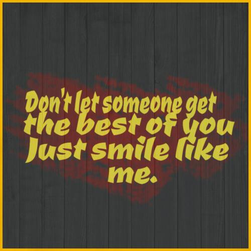 Just smile. - Men's Premium T-Shirt
