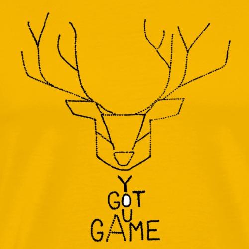 Stag GOT GAME - Men's Premium T-Shirt