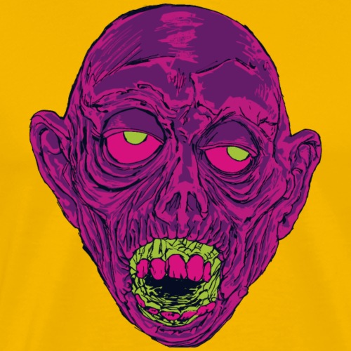Graveyard Ghoul Ghastly Grape - Men's Premium T-Shirt