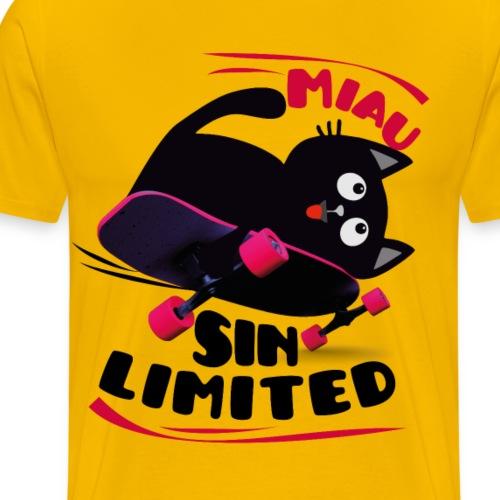 cat boartd - Men's Premium T-Shirt