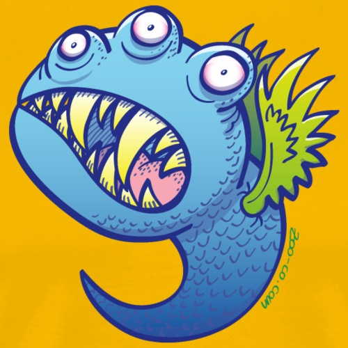 Winged little blue monster - Men's Premium T-Shirt