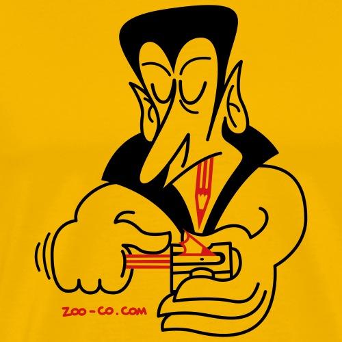 Dracula Sharpening his Teeth - Men's Premium T-Shirt