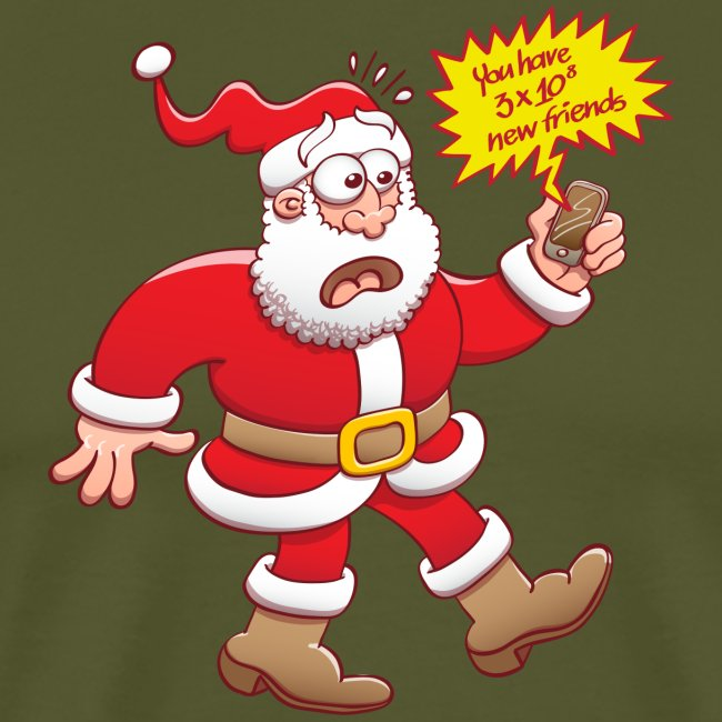 Santa's shocked, tons of new friends on the web!