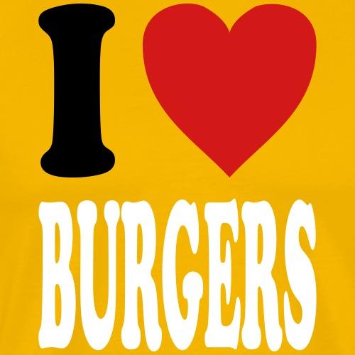 I love BURGERS (variable colors!) - Men's Premium T-Shirt
