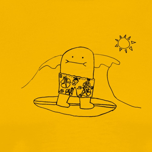 Surfing Bert, Outline Only (tshirts) - Men's Premium T-Shirt
