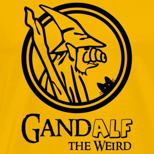 GandAlf the Weird - Black version - Men's Premium T-Shirt