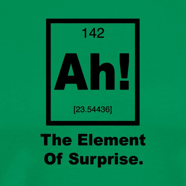 Ah The element of surprise