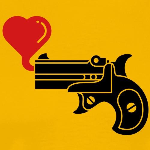 Pistol Blowing Heart Bubbles - Men's Premium T-Shirt
