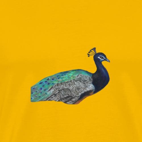 peacock half - Men's Premium T-Shirt