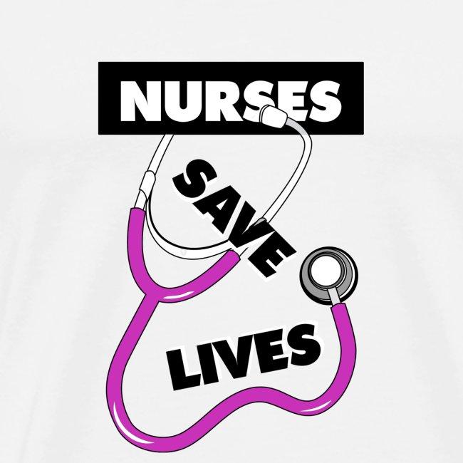 Nurses save lives pink