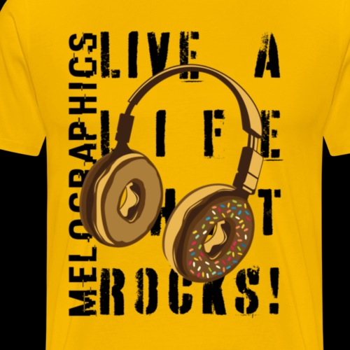 Donut Headphones Rock - Men's Premium T-Shirt