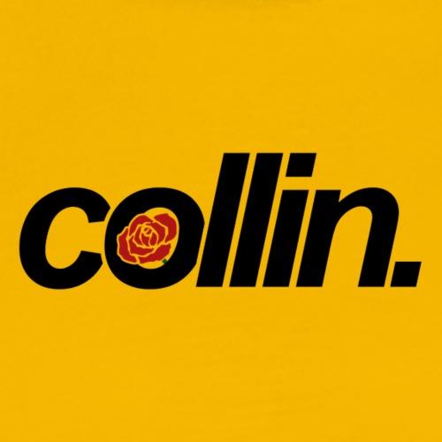 Collin. (Black w/ Rose) - Men's Premium T-Shirt