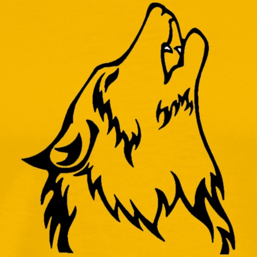 Wolf (back) - Men's Premium T-Shirt
