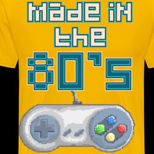 Made In The 80's | Retro Video Game Controller - Men's Premium T-Shirt