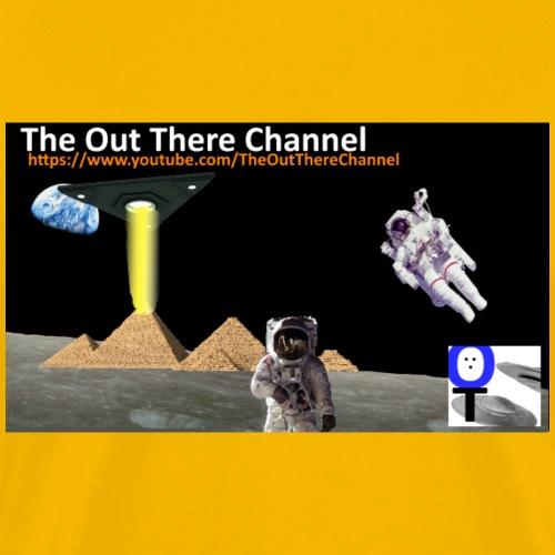 UFO Pyramids v1 with Crew Back Logo - Men's Premium T-Shirt