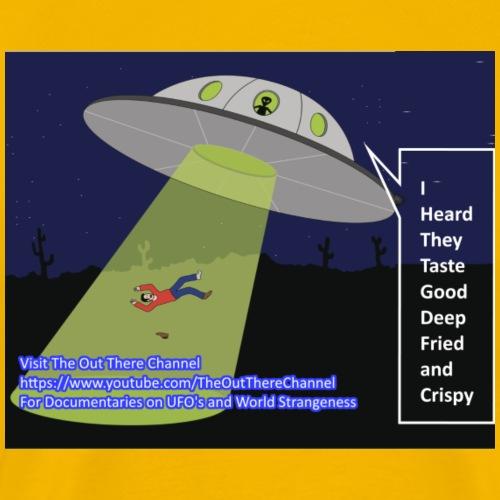 alien abduction Joke with back large crew blackops - Men's Premium T-Shirt