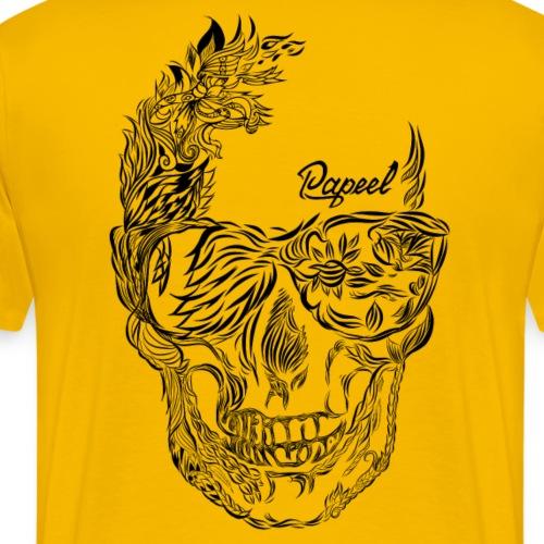 Floral beard - Papeel Arts - Baseball T-Shirt