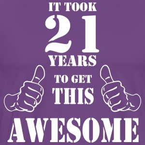 21st Birthday Get Awesome T Shirt Made in 1996 - Men's Premium T-Shirt