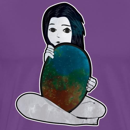 La fille et le miroir - T-shirt premium pour hommes