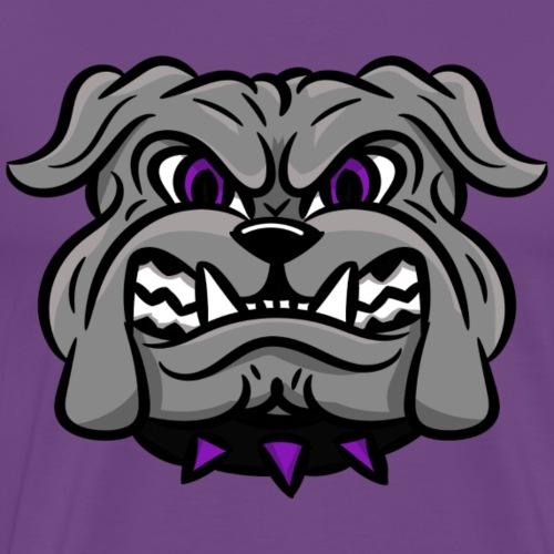 custom bulldog mascot gray - Men's Premium T-Shirt