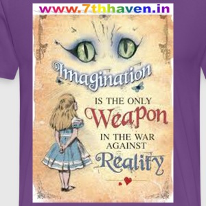 Imagination, t shirt , Reality - Men's Premium T-Shirt