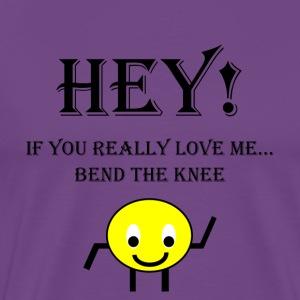 Bend The Knee (Black) - Men's Premium T-Shirt