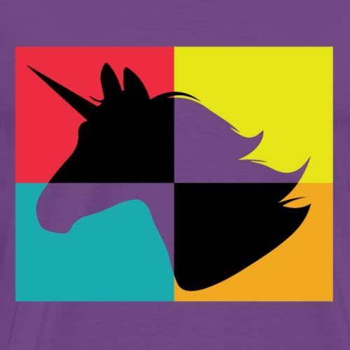 Unicorn Pop Art Stencil Color - Men's Premium T-Shirt