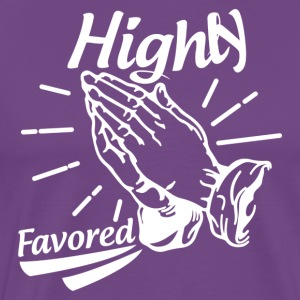 Highly Favored - Alt. Design (White Letters) - Men's Premium T-Shirt
