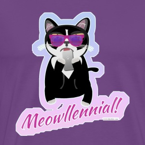 Meowllenial Hipster Cat - Men's Premium T-Shirt