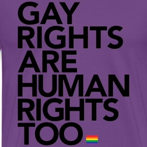 Gay Rights Are Human Rights - Men's Premium T-Shirt