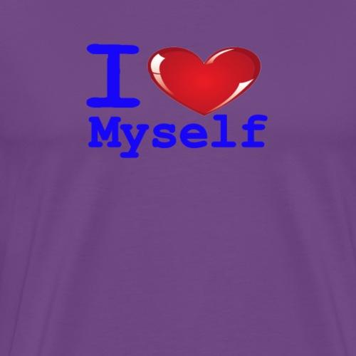 i Love Myself -Blue- Best Selling Design - Men's Premium T-Shirt