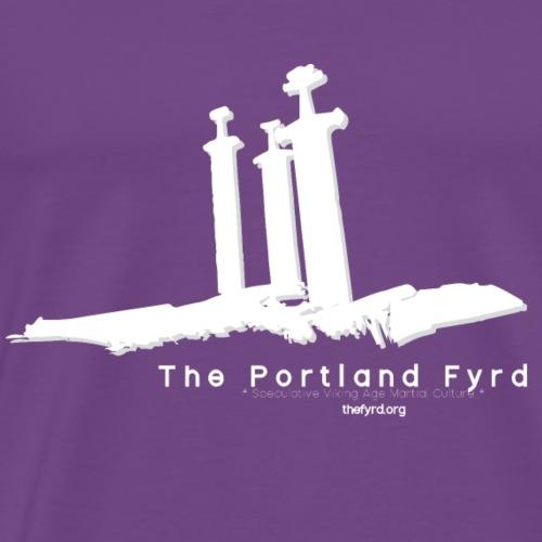 Portland Fyrd Sverd i Fjell White - Men's Premium T-Shirt