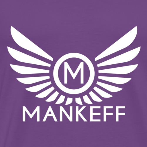 Mankeff White Logo With Name - Men's Premium T-Shirt