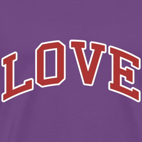 Love - Collegiate Design (Red/White Letters) - Men's Premium T-Shirt