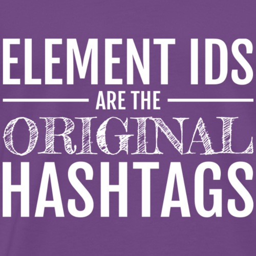 The Original Hashtags (Light) - Men's Premium T-Shirt