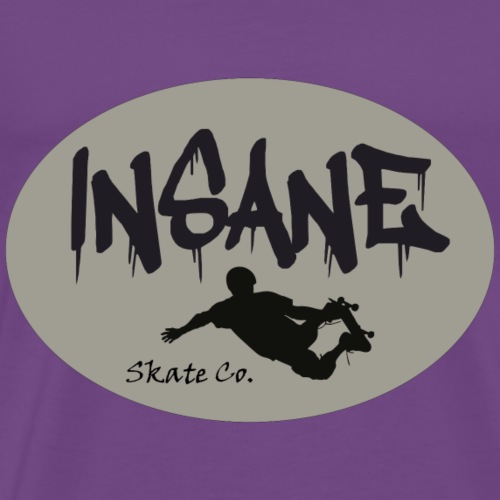 Insane Skate Co. Round Logo with Skater - Men's Premium T-Shirt