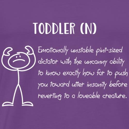 Toddler (N) For Dark Color Shirts - Men's Premium T-Shirt