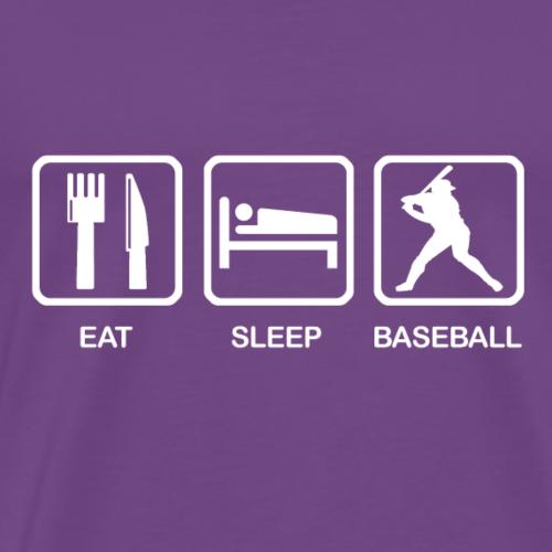 Eat. Sleep. Baseball. - Men's Premium T-Shirt