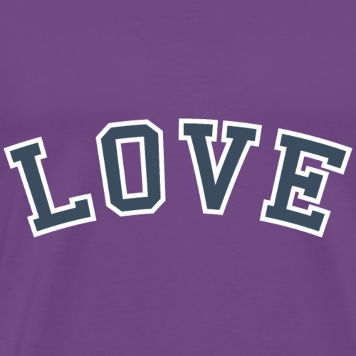Love - Collegiate (Blue/White) - Men's Premium T-Shirt