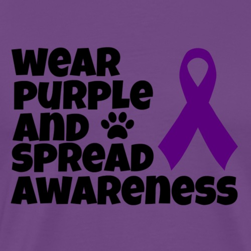Wear Purple And Spread Awareness - Men's Premium T-Shirt