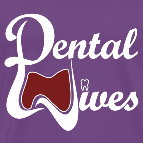 Dental Wives Logo with White Text - Men's Premium T-Shirt