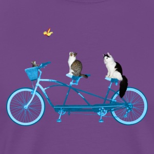 Cats On a Bike - Men's Premium T-Shirt
