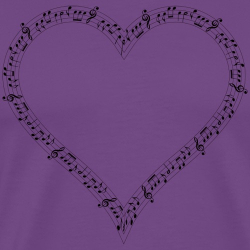 Musical Heart T-shirts and Gifts - Men's Premium T-Shirt