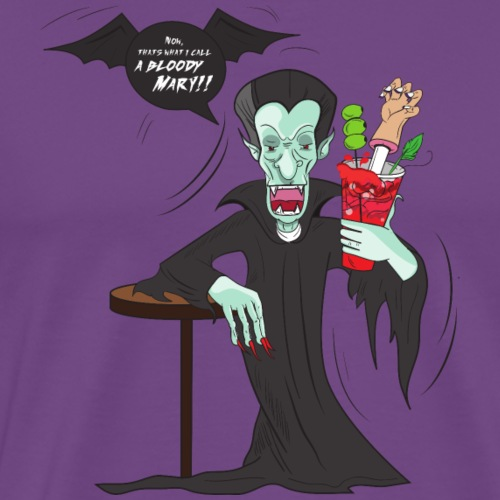 Funny Vampire Bloody Mary - Men's Premium T-Shirt