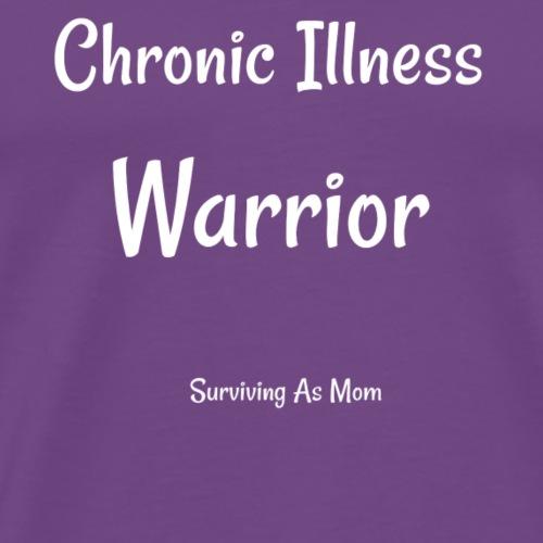 Chronic Illness Warrior white - Men's Premium T-Shirt