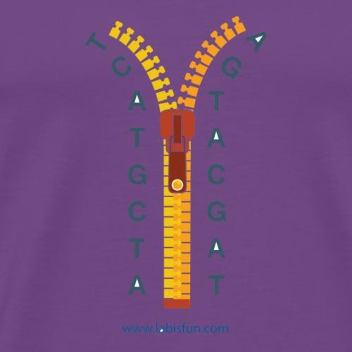 ATCG Zipper - Men's Premium T-Shirt