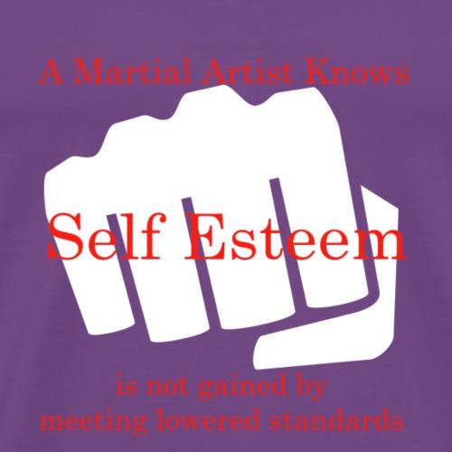 A Martial Artist Knows #1 - Fist - White - Men's Premium T-Shirt