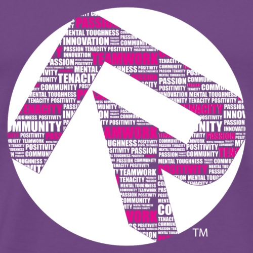 R Core Values Tshirt white pink white circle - Men's Premium T-Shirt